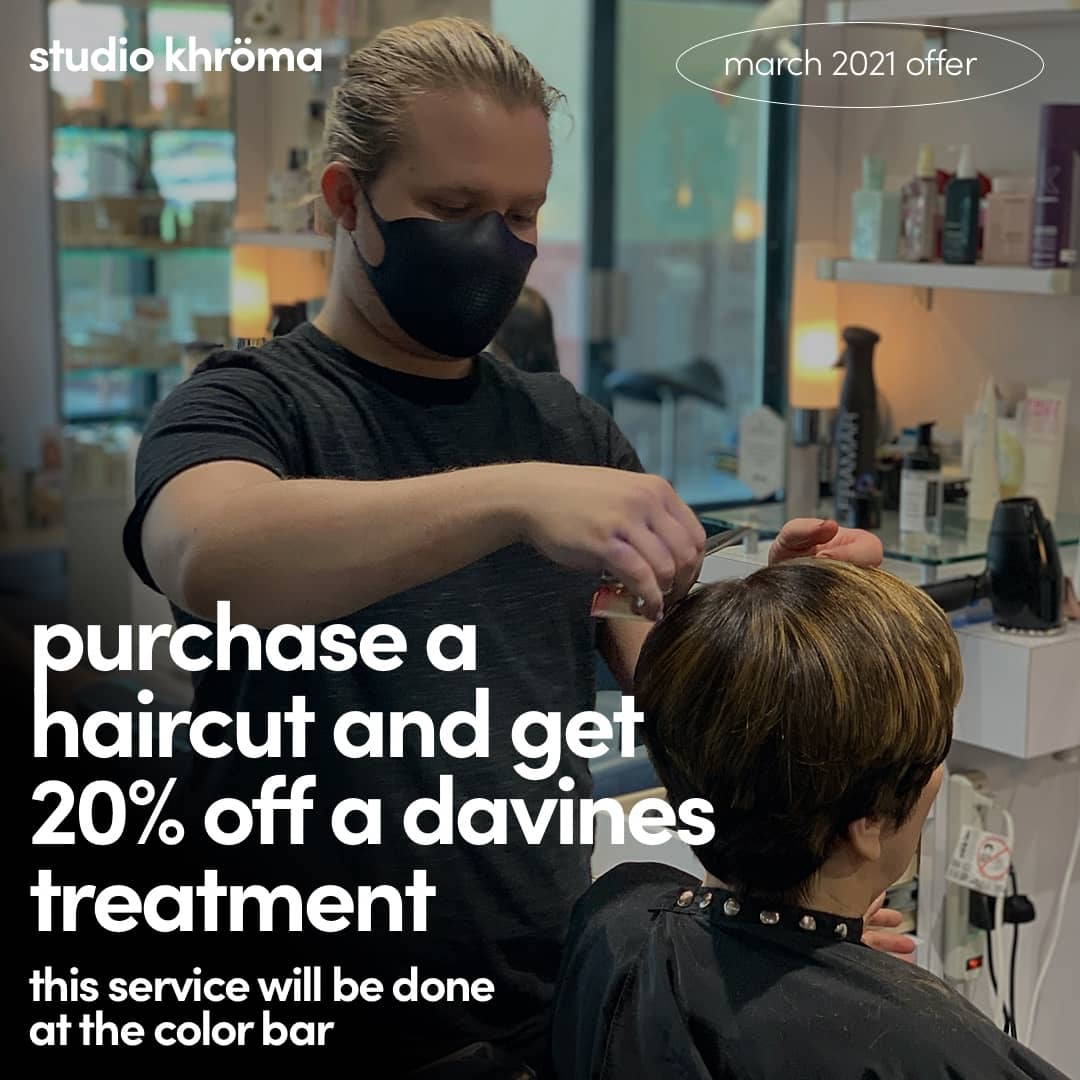 march 2021 offer haircut davines