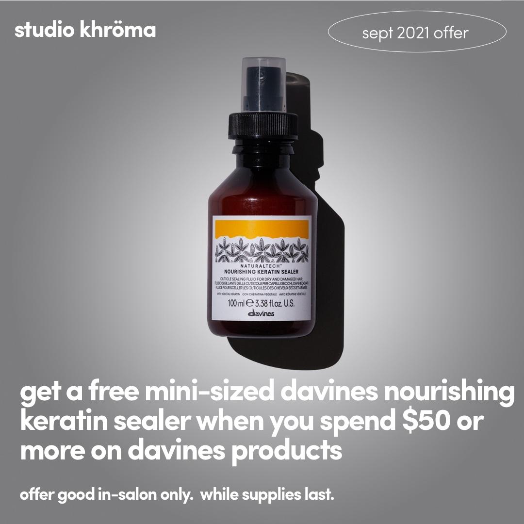 studio khroma offers 2021 september davines
